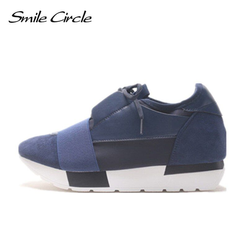 Sourire Cercle Printemps Automne Chaussures Femmes Mode bout Pointu Dentelle-up Sneakers Pour Les Femmes Plat Casual Plate-Forme Chaussures tenis feminino