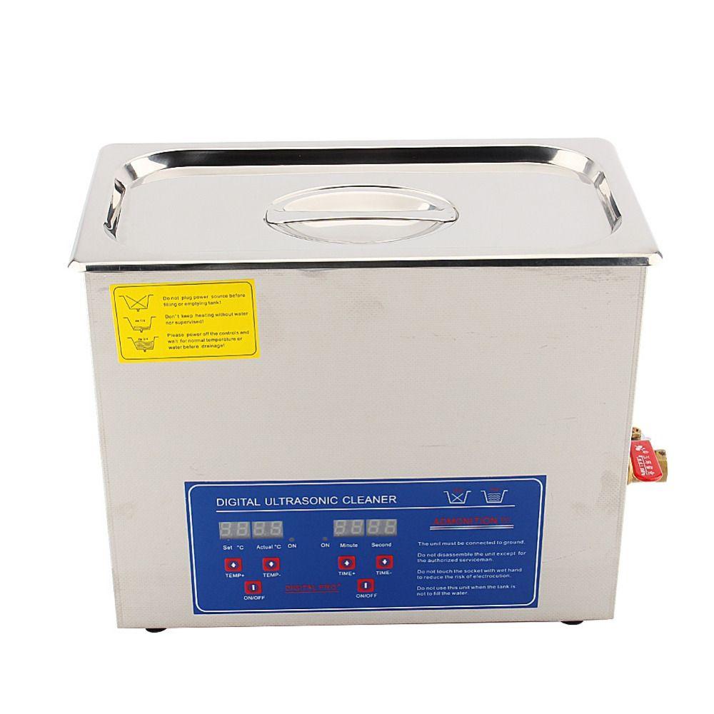 6L Stainless Steel Digital Ultrasonic Cleaner Bath Tank w/ Timer Cleaning Machine Wave Tank for Coins Nail Tool Part 180W 220V