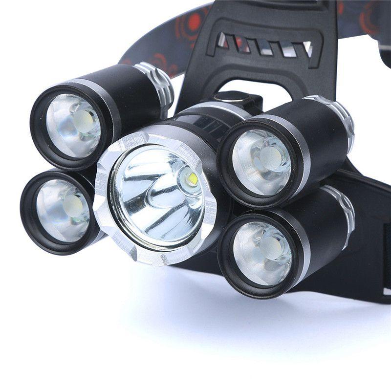 Fahrrad zubehör 35000LM 5x XM-L T6 Led-scheinwerfer Scheinwerfer Taschenlampe Kopf Licht Lampe 18650 bike licht 170726 P30
