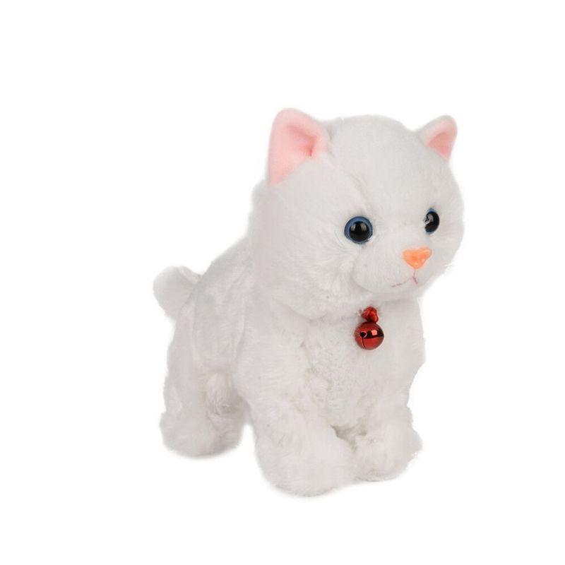 Animaux de compagnie électroniques doux contrôle du son Robot chats Stand marche animaux de compagnie électriques mignon jouets interactifs chat peluche bébé jouets pour enfants