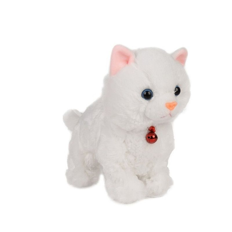 Soft Electronic Pets Sound Control <font><b>Robot</b></font> Cats Stand Walk Electric Pets Cute Interactive Cat Electronic Plush Baby Toys For Kids