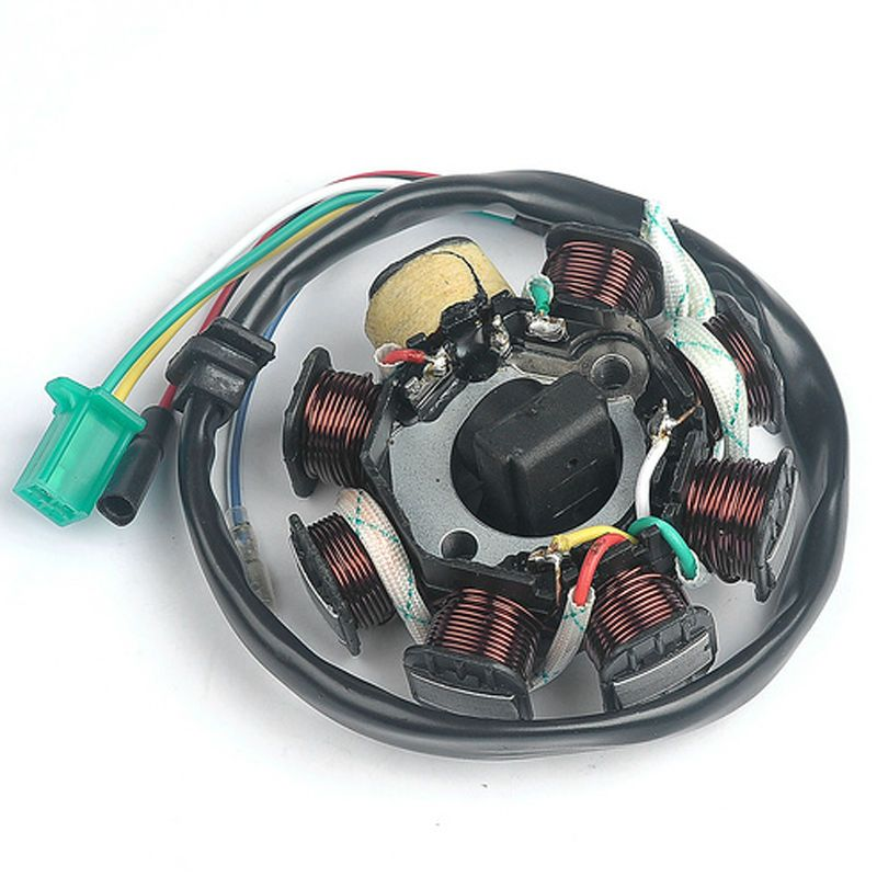 Ignition Stator Magneto 8 Pole Coils For GY6 or GY6 Clone Engine 150cc scooters, dune buggy and mopeds DC Fired