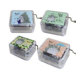 Acrílico caja de música mecánica cajas musicales juguetes cajas de música manivela Music Box cumpleaños Navidad regalos para niños pequeños