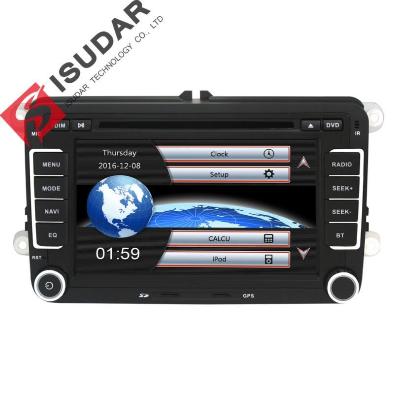 Isudar Car Multimedia player 2 Din Car DVD For VW/Volkswagen/Golf/Polo/Tiguan/Passat/b7/b6/CC/SEAT/leon/Skoda/Octavia Radio GPS