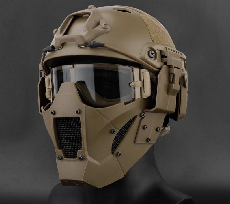 Военная Униформа Airsoft тактический Пейнтбол аксессуары Охота защитный Мужская половина маска для быстрого шлем