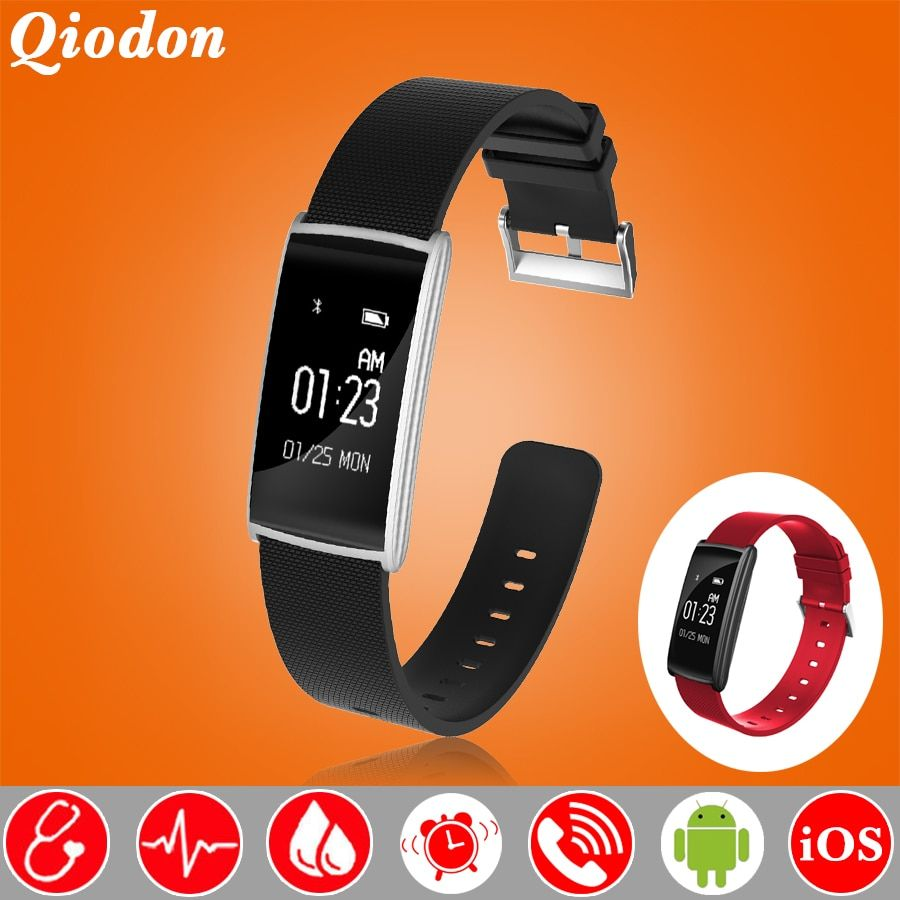 Tempered Touch Screen Swim Fitness Bracelet Smart Band Wristband Blood Pressure Heart Rate Fatigue Monitor Smartband PK fitbits