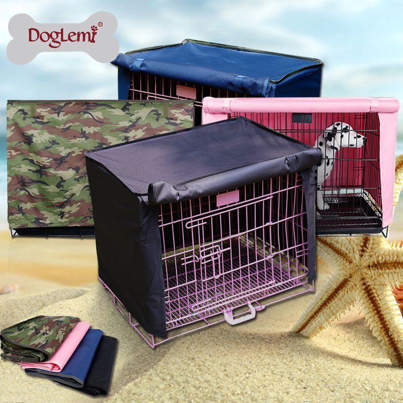Couverture imperméable de caisse d'animal familier de Polyester de Doglemi pour la couverture de Cage de chenil de chien de caisse de fil 4 couleurs disponibles