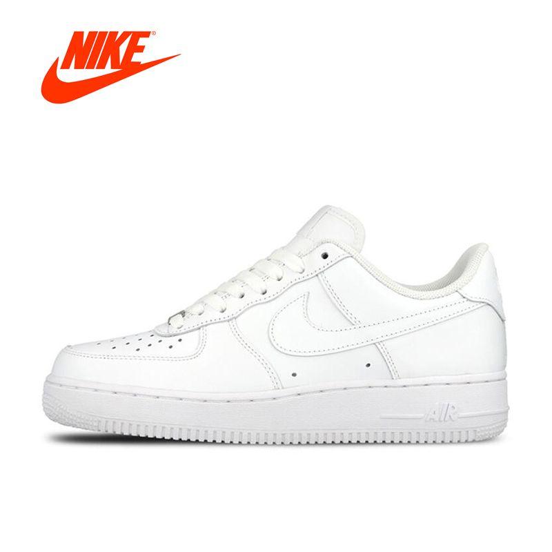 Оригинальный Новое поступление Официальный Nike Air Force 1 AF1 Для мужчин дышащая Обувь для скейтбординга