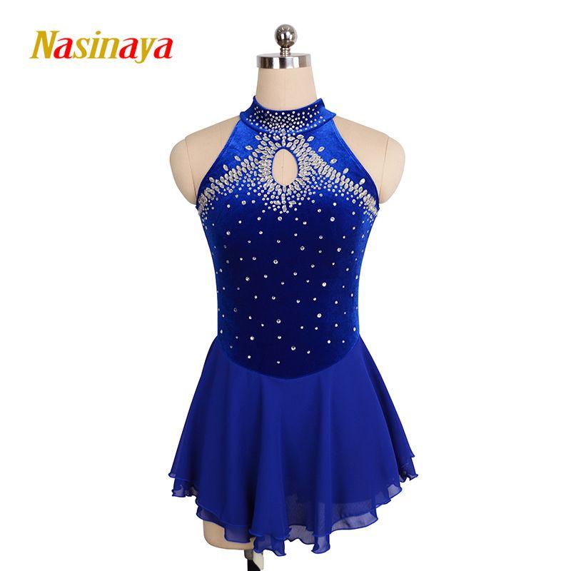 Nasinaya Eiskunstlauf Kleid Customized Wettbewerb Eislaufen Rock für Mädchen Frauen Kinder Patinaje Gymnastik Leistung 165