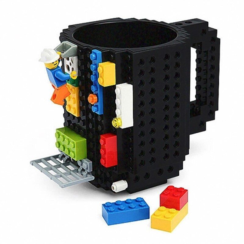 350ml Milk Mug Coffee Cup Creative Build-on Brick Mug Cups Drinking Water Holder for LEGO Building Blocks Design