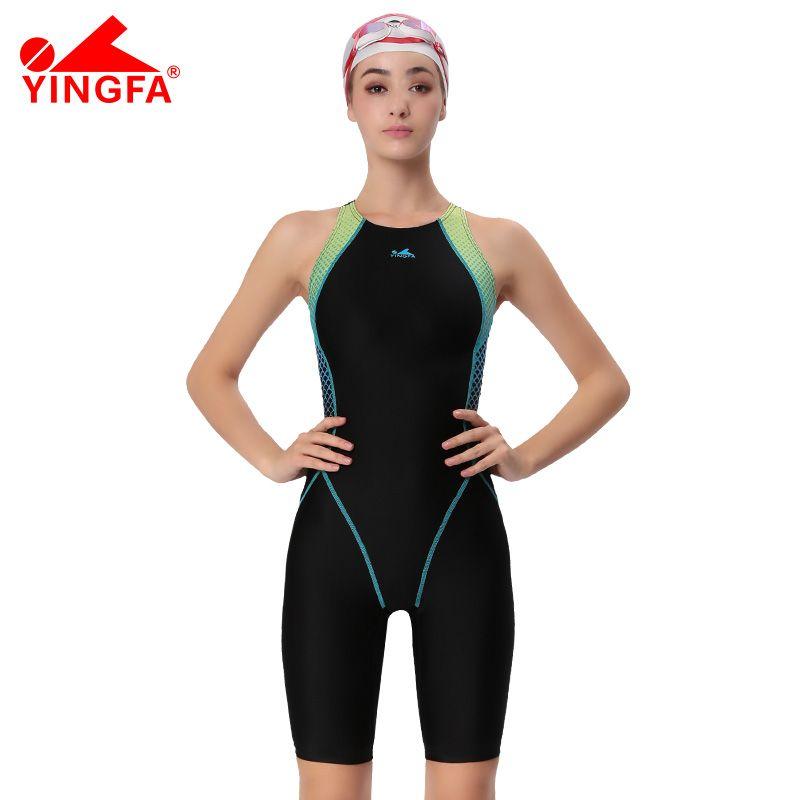 Yingfa VaporWick one piece competition kneeskin waterproof chlorine low resistance women's swimwear sharkskin swimsuit