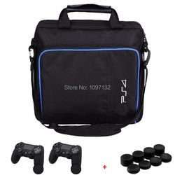 PS4 Game Sytem Bag Canvas Carry Bags Case Protective Shoulder Bag Handbag for PlayStation 4 PS4 Console W/ Grips Stickers Cases