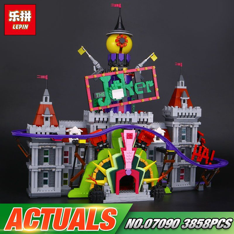 In Stock Lepin 07090 Hot-sale 3857Pcs Super Hero Series The Joker`s Manor Set 70922 Building Blocks Bricks Christmas Kids Gifts
