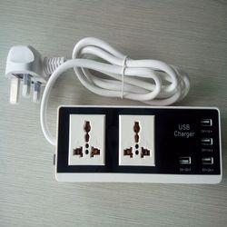 New Power Strip 4 USB Charging Ports Power Plug US & EU&UK Standard Plug Multi Adapter Smart USB socket For iphone Samsung Xiaom