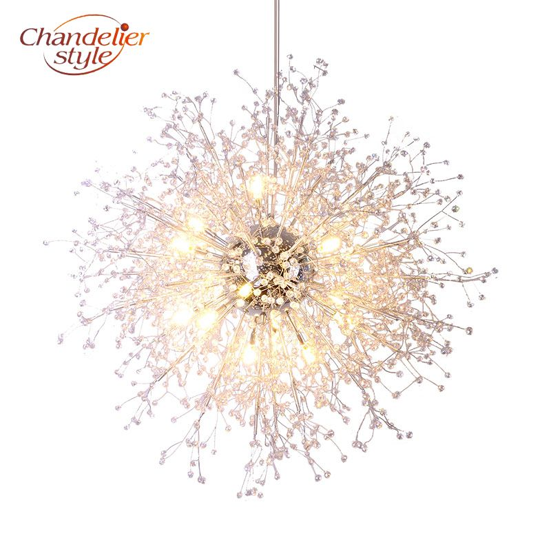 Modern Crystal Chandelier Lighting Globe Cristal Chandeliers Light Round Acrylic Hanging Lamp Fixtures for Home Restaurant Decor