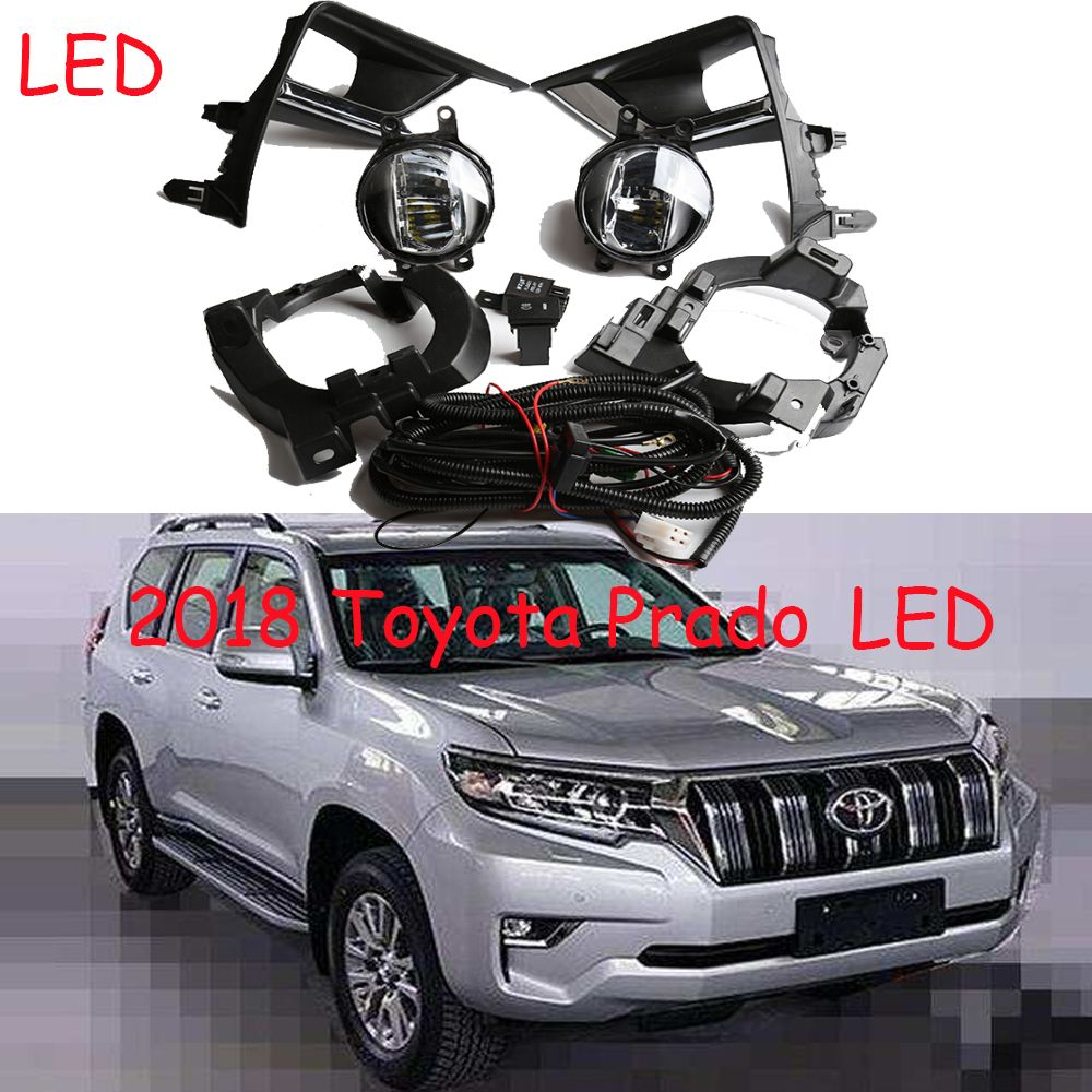 LED,2017~2018 Cruiser Prado fog light,FJ150,LC150,Free ship!Prado headlight,2700 4000,hilux,yaris;Prado day lamp