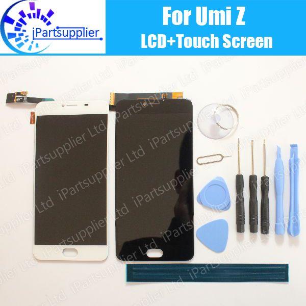 UMI Z Écran lcd + Écran Tactile 100% D'origine LCD Digitizer Verre de Remplacement Du Panneau Pour UMIDIGI Z + outils + adhésif