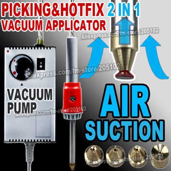 Air aspiration sous vide pick-up et le correctif applicateur baguette gun superbe pour fer sur hot fix strass cristaux diy outils