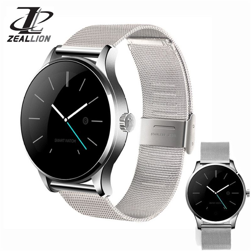 ZEALLION Smart Watch K88H Clock Sync Notifier Support Heart Bluetooth 4.0 Connectivity Pedometer for Android iOS Smartwatch
