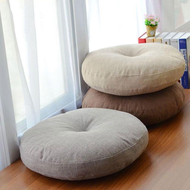 Coussin de siège de chaise ronde en toile souple pour Patio maison oreiller de sol de bureau de voiture avec Insert remplissant des coussins de Futon en mousse à mémoire de forme