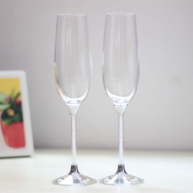 2019 verres à vin de mariage personnalisés cristal verre à boire amoureux cadeaux champagne verres à vin grillage flûtes