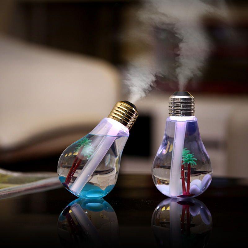 EASEHOLD USB Ultrasonic Humidifier Home Office Mini Aroma Diffuser LED Night Light Aromatherapy Mist Maker Creative Bottle bulb