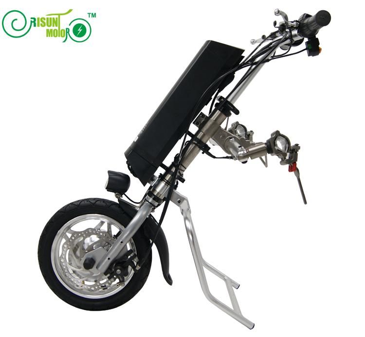 Free Shipping 36V 250W Electric Handcycle Folding Wheelchair Attachment Handbike DIY Conversion Kits 36V 9AH Li-ion Battery
