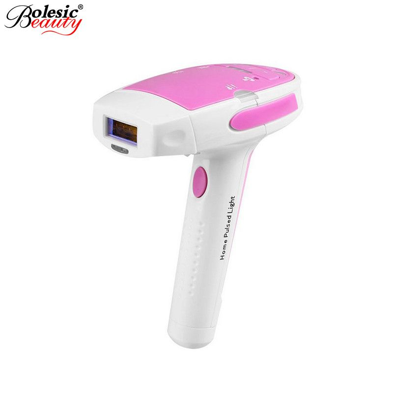 Free Shipping Hottest Permanent Laser Hair Removal Pink IPL Hair Removal 300,000 Pulses Home Laser Epilator