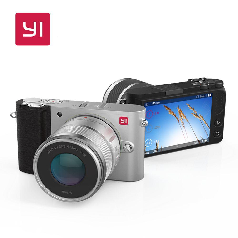 YI M1 Mirrorless Numérique Caméra Avec YI 12-40mm F3.5-5.6 Zoom Lentille LCD International Version BRUT LCD 20MP vidéo Enregistreur 720RGB