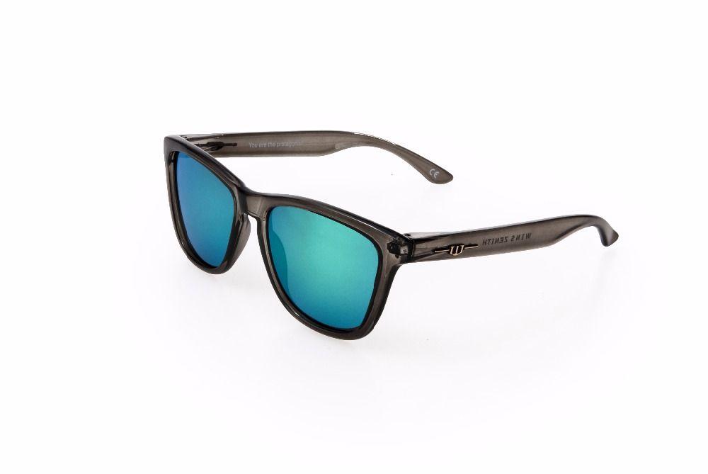 winszenith 65 2018 Fashion Sunglasses 138-153 Unisex Eyewear UV400 Green Lenses Protect Eyes Women Glasses Sunglasses