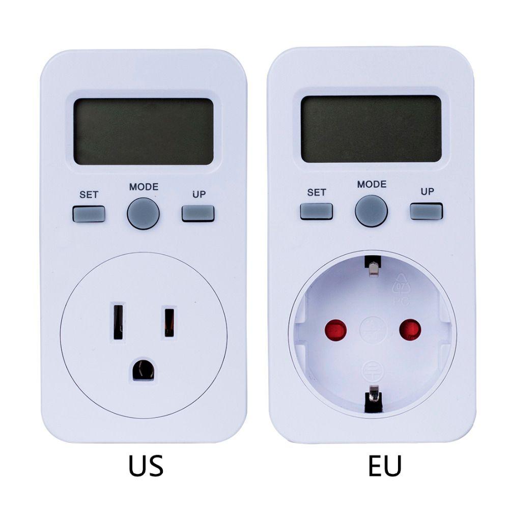 Digital wattmeter LCD Energy Monitor Power Meter Electricity Electric swr meter Usage Monitoring Socket EU/US Plug Free shipping
