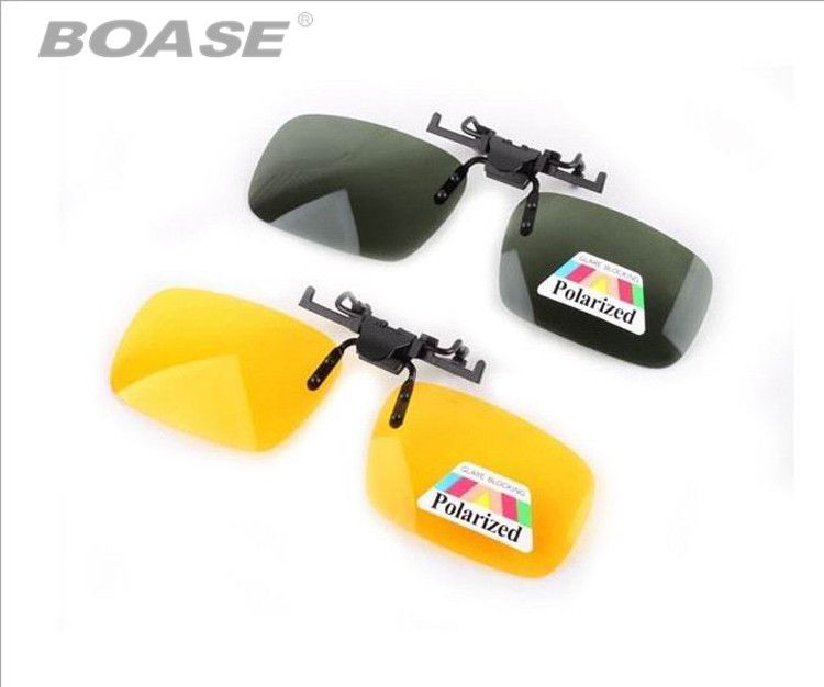 Unisex Polarized Sunglasses Clip on Outdoor Aviate Drive Sun Spectacles UV400 Goggles Eyeglasses Yellow Night Vision Glasses