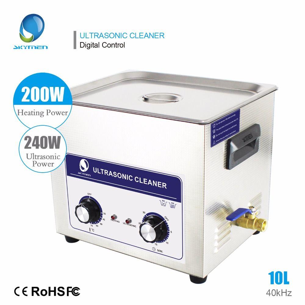 SKYMEN 10l Ultraschall Bad Reiniger 10L 240 watt Professionelle Edelstahl Ultraschall Reiniger Industrie reiniger