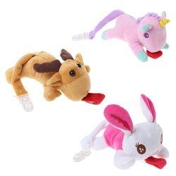 Mainan Bayi Yang Baru Lahir Puting Pacifier Pacifier baru Indah Stuffed Hewan Klip Pemegang Makan Mewah Rantai