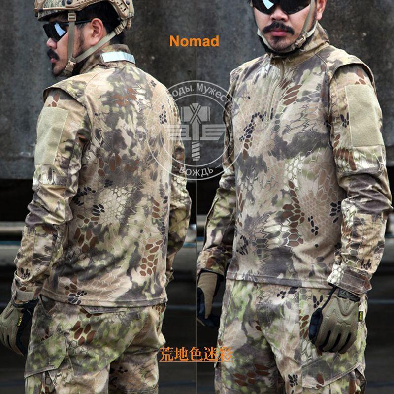 Army Military Tactical Pants and Combat Jackets Uniform Camouflage Kryptek CS Game Uniform Sets Men Clothing Set