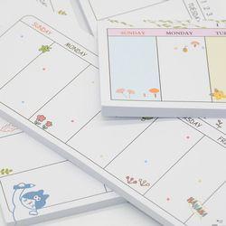 Semanal planificador agenda material escolar Caderno escolar 2018 papeleria papelería cuadernos mini no defteri planificador semanal