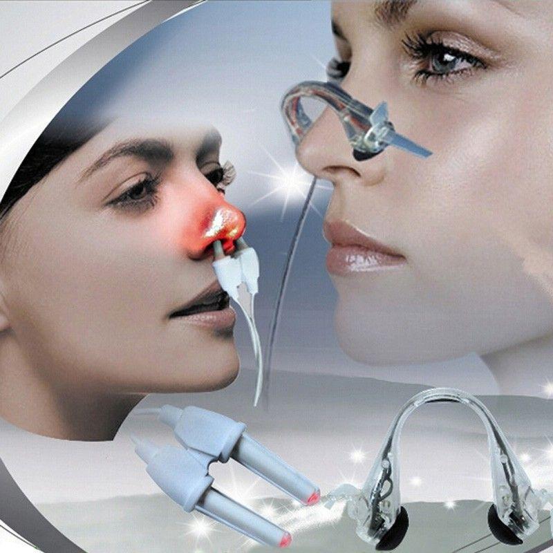 2 dans 1 Laser + Pulse Nez Rhinite Allergie Releveur Traitement Anti-ronflement La Sinusite Thérapie De Massage de Santé Clip soins