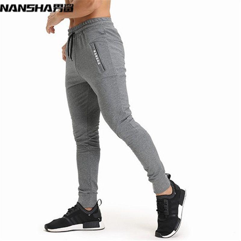NANSHA Brand Gyms Men Joggers Casual Men Sweatpants Joggers <font><b>Pantalon</b></font> Homme Trousers Sporting Clothing Bodybuilding Pants