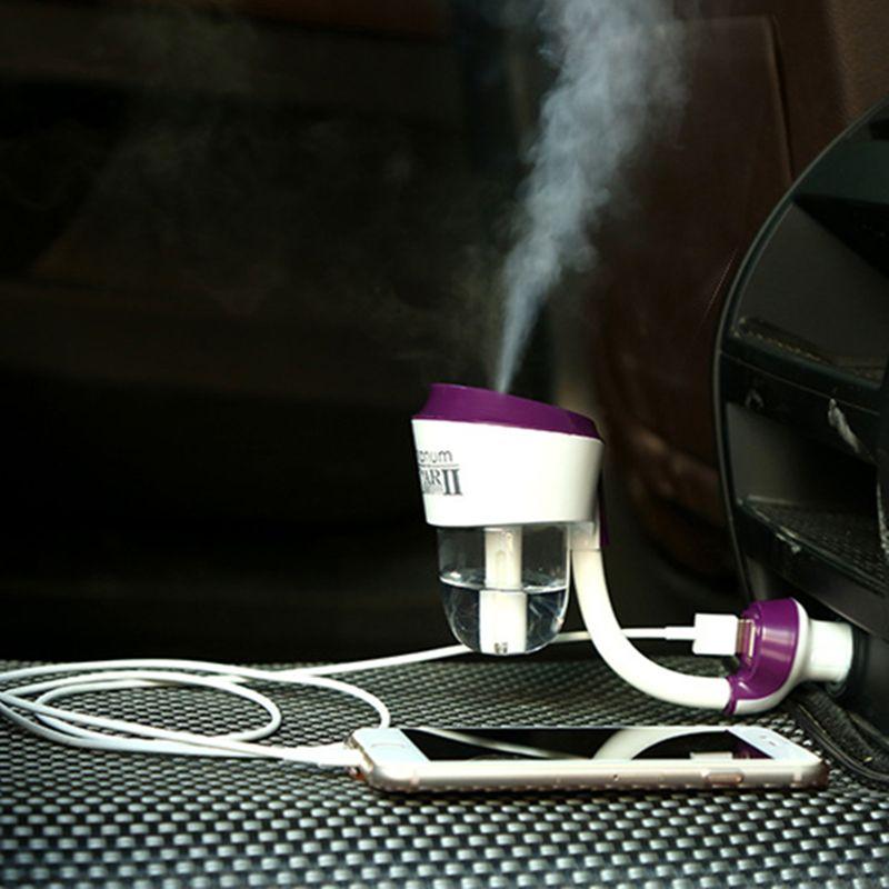 La deuxième génération avec USB port de charge de voiture air purificateur à vapeur humidificateur aromathérapie huiles essentielles aromathérapie pulvérisation