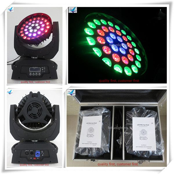 (Flight Case)Dmx wash led moving heads 36x18w led moving head wash light copy robe robin 600