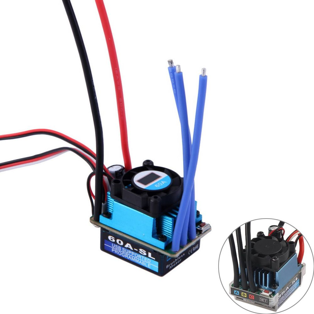 RC Racing 25A 35A 60A SL Brushless Speed Controller ESC for RC 1/10 1:10 1:12 Car Truck Drop freeship