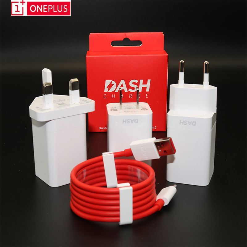 Original Oneplus3 3T 5 6 Dash charger 5V/4A One plus Three Five mobile phone Power adapter with 1+ Dash Charge TYPE-C data Cable