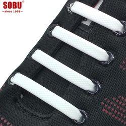 16pcs/lot Lazy Elastic Silicone Shoelaces Unisex Elastic Shoelace Creative Lazy Silicone Laces No Tie Rubber Lace V036