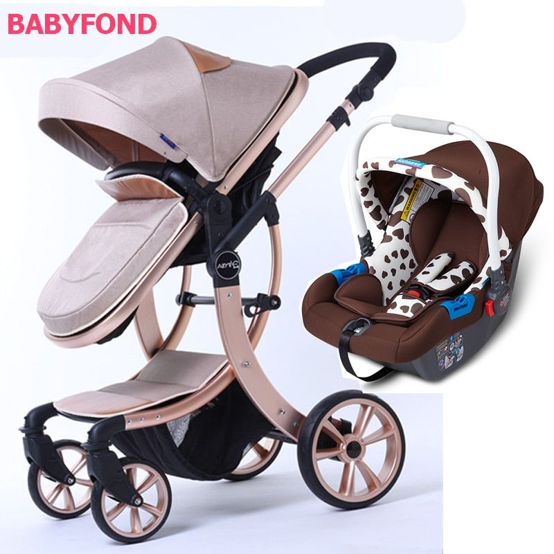 3 in 1 EU Baby Stroller high quality Export High Landscape Shock Absorbe Can Sit and Lying baby Cart baby pram carriage