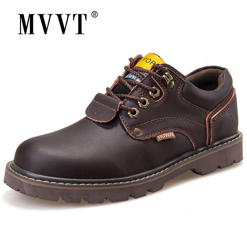 Véritable cuir hommes bottes classique cheville travail bottes Nubuck cuir hommes hiver neige bottes automne outillage chaussures