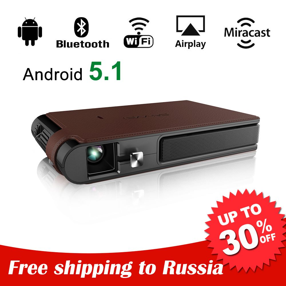 CAIWEI Mini Portable DLP Proyector 3D Projector Android WiFi Bluetooth Home Theater Presentation Backyard Movie Support HD 1080P