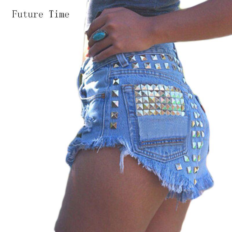 2016 женские шорты с дырками, с рваными карманами и бахромой,ripped сексуальные с высокой талией джинсовые летные шорты со стретчем C0471