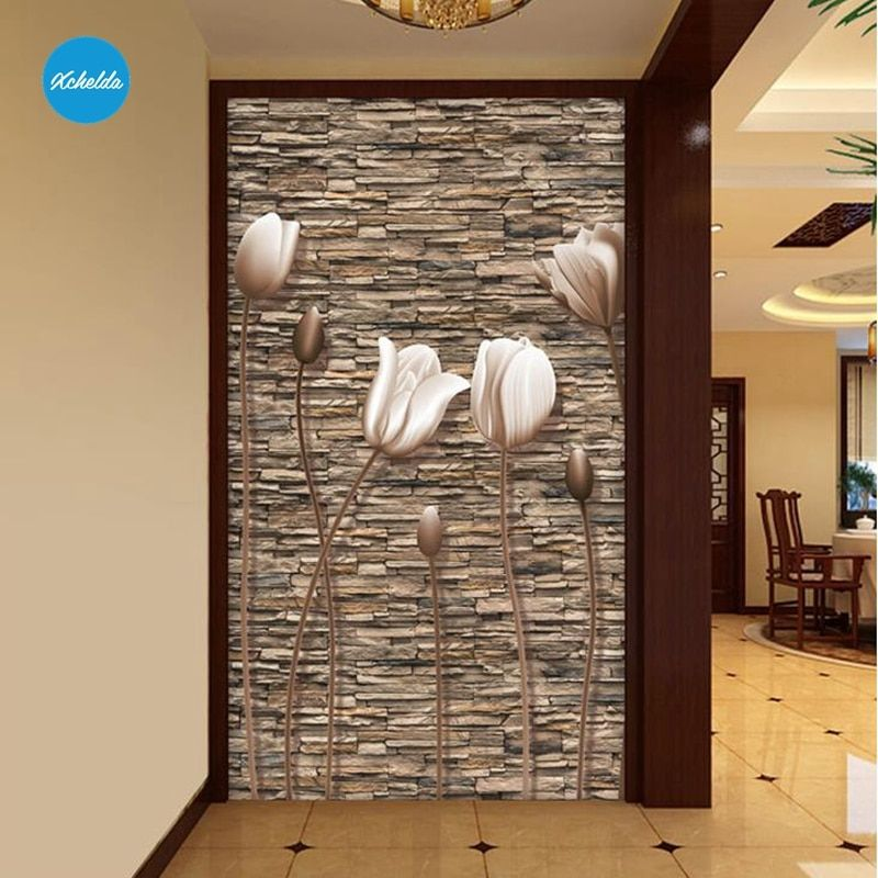 XCHELDA Custom 3D Wallpaper Design Retro Stereo Buds Photo Kitchen Bedroom Living Room Wall Murals Papel De Parede Para Quarto