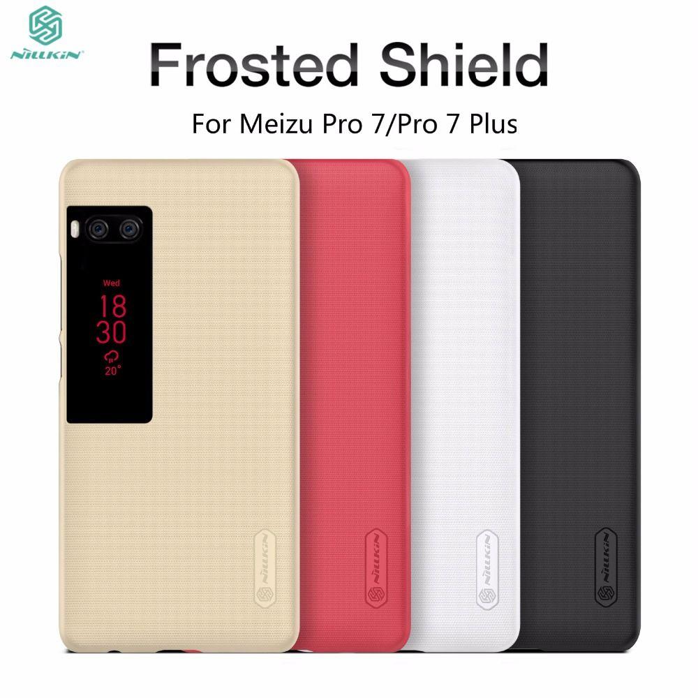 Meizu Pro 7 Cas Meizu Pro 7 Plus De Cas De Couverture NILLKIN Super Givré bouclier Cas Pour Meizu Pro 7 Pro 7 Plus La Couverture Arrière + Cadeau Film