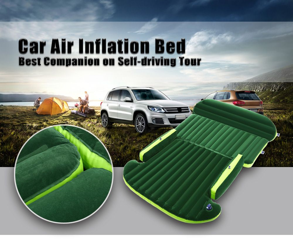 Universal Auto Back Seat Cover Car Air Inflation Mattress Bed Drive Travel Car Inflatable Bed Wave Design With Air Pump